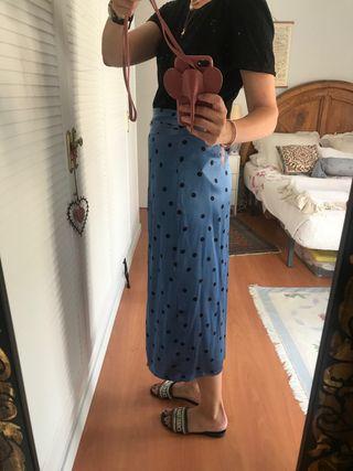 Falda lunares tipo pareo