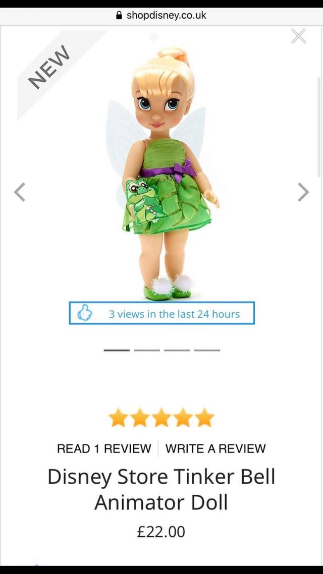Big tinker bell doll