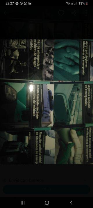 libros de 1° grado medio de emergencias sanitarias