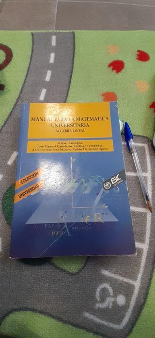 Manual para la matemática universitaria álgebra