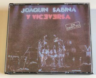 JOAQUÍN SABINA Y VICEVERSA 2 Discos 2 Cd