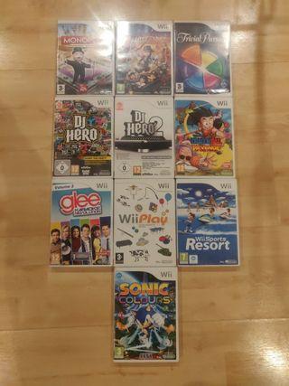 Wii videojuegos sueltos