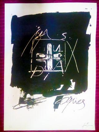Lithografía Original de Antoni Tàpies Edicion limi