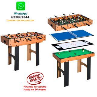 Air Hockey Ping-Pong y Billar 87x43x73cm