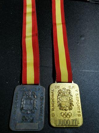 2 medallas cuartel de montaña