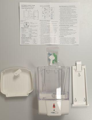 Dosificador gel hidroalcohólico 0.6l sin contacto