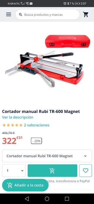 Cortador de azulejos profesional RUBI