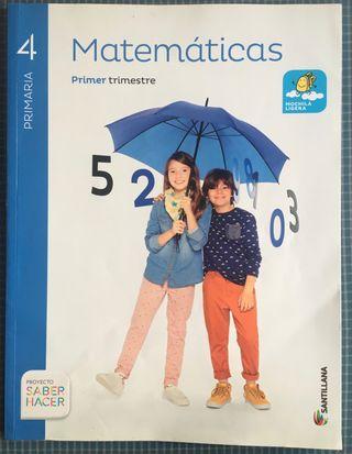 Libros 4° Primaria Matemáticas Santillana