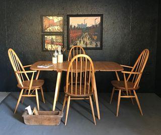 Mesa y 6 sillas Ercol
