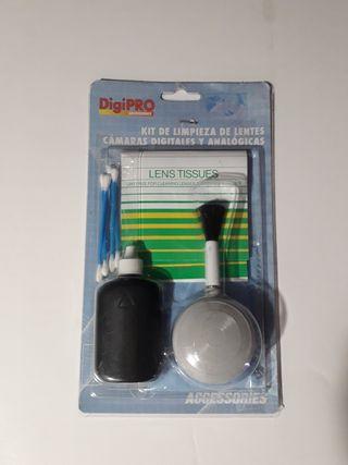 Kit de limpieza lentes cámara reflex