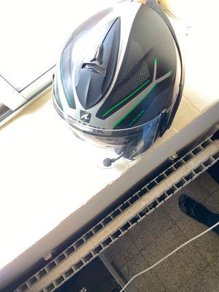 Casco de moto + intercomunicador