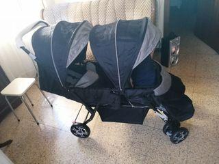 vendo carrito de bebe gemelar nuevo