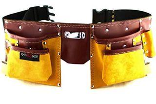 Cinturon porta herramientas de cuero