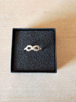 anillo plata infinito zara nuevo mujer
