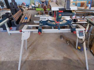 venta mesa trabajo + sierra ingletadora Bosch