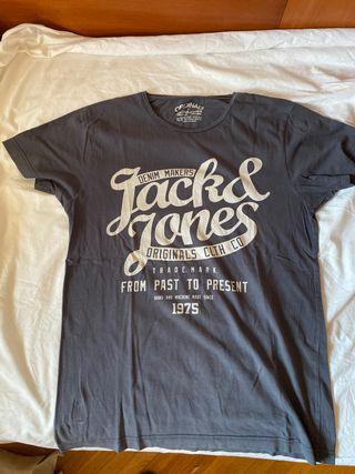 Camiseta azul Jack & Jones