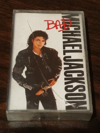 Cassette Michael Jackson Bad 1987 edición española