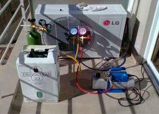 Recarga de gas de aire acondicionado