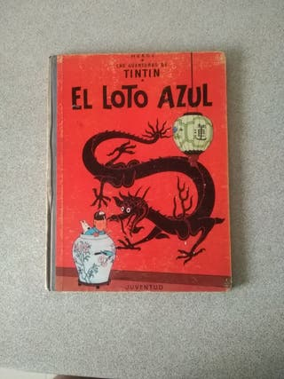 """Antiguo TINTIN """"EL LOTO AZUL"""" primera edición"""
