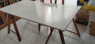 tablero mesa + caballetes