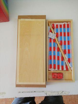 Barras Rojas y azules mini Montessori