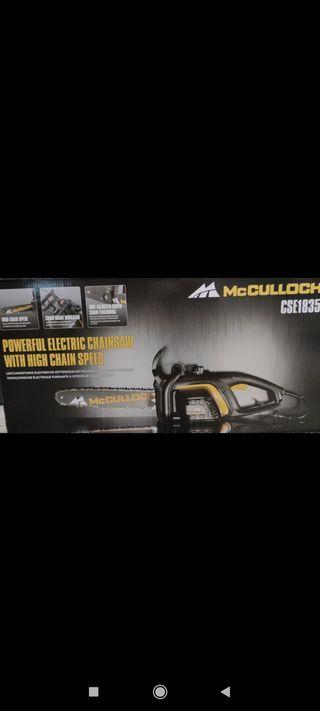 Motosierra eléctrica McCulloch 1800w