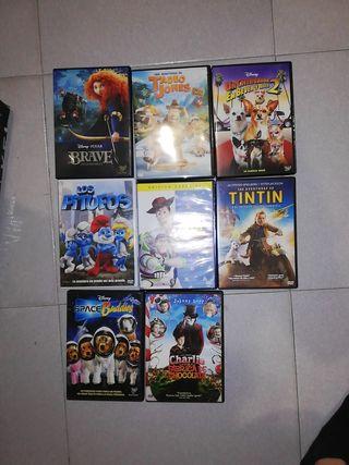 Pack de 8 pel·lícules de dibuixos