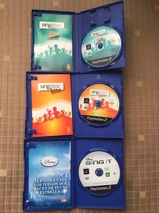 Juegos Singstar PlayStation 2 (pack o separados)