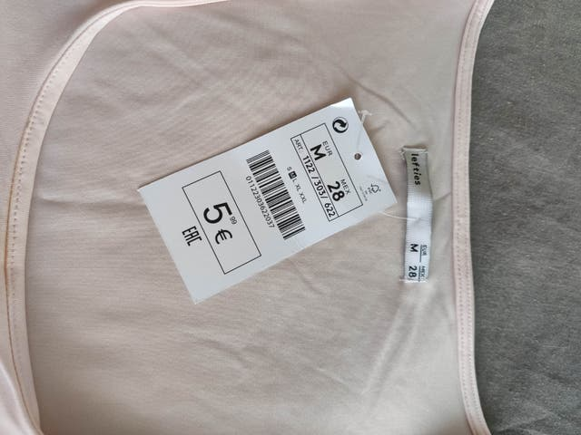 camiseta tirante ancho nueva