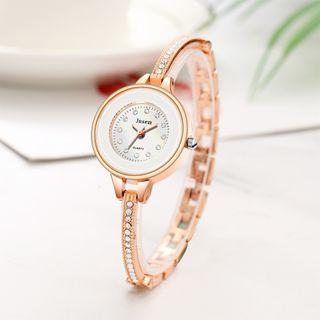 Reloj De Pulsera De Diamante imitación Oro Rosa