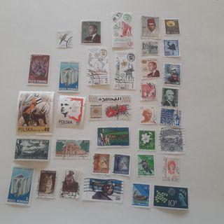 Lote de sellos extranjeros