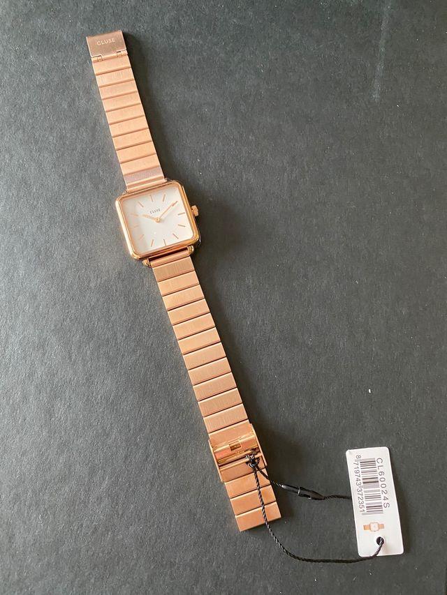 Reloj Cluse mujer brazalete oro rosa