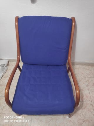 Silla mecedora Antigua con fundas lavables