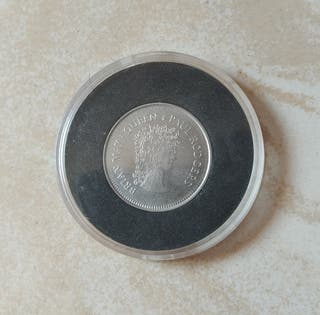 Moneda 6 peniques Brian May Queen 2005