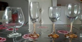 Copas de cristal de vino