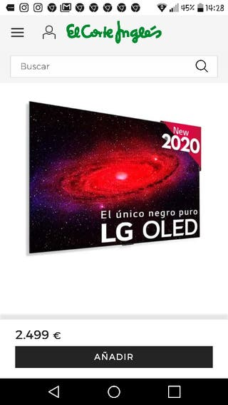 TV LG OLED55GX nueva