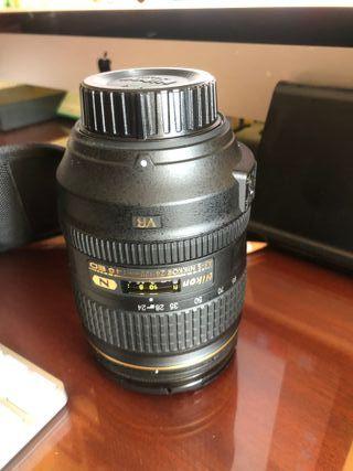 Objetivos y Flasch Nikon