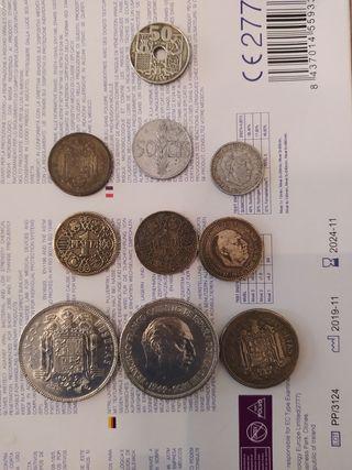 monedas 5 pesetas 1949 2,5 pesetas