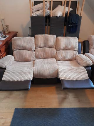Read below3 seater sofa and chair both recliners