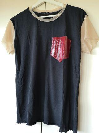Camiseta mangas tul Zara