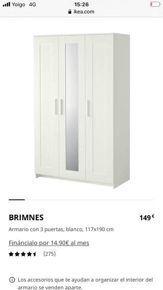 armario brimnes ikea 3 puertas
