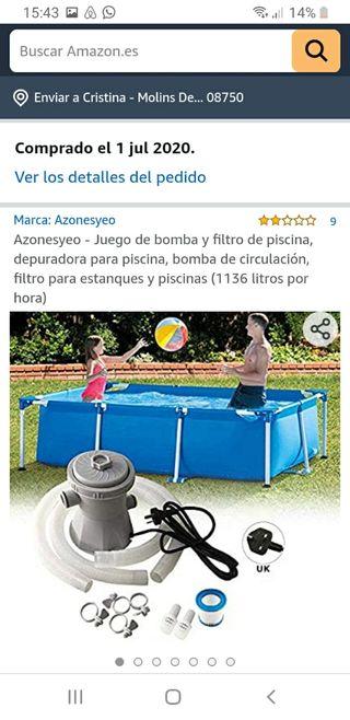 bomba y filtro de piscina