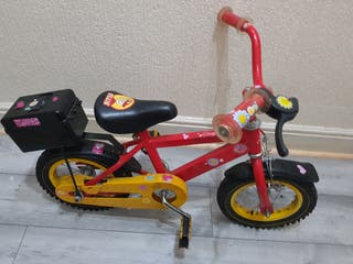 child bike with helmet and lock