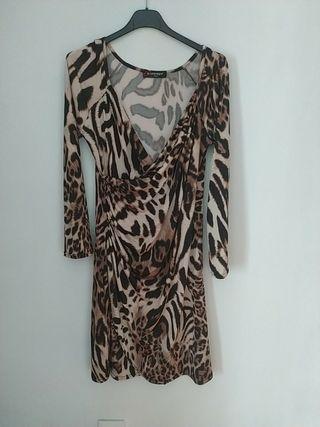 vestido mujer leopardo