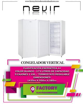 CONGELADOR NEVIR NVR5203CVSD A++ 143,5x 55cm