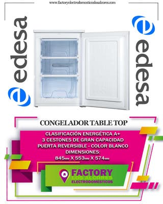 CONGELADOR EDESA EZS0811WH 85 x 55cm A+