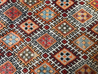 Auténtica alfombra Beréber de lana pura