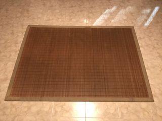 Alfombra caña bambú