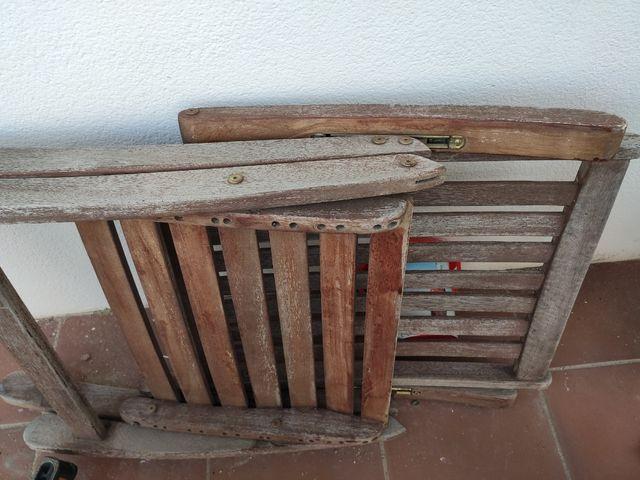 Silla tumbona madera