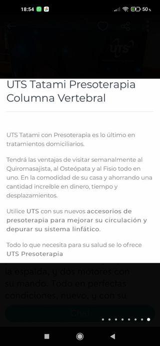 Se vende presoterapia UTS prácticamente nueva